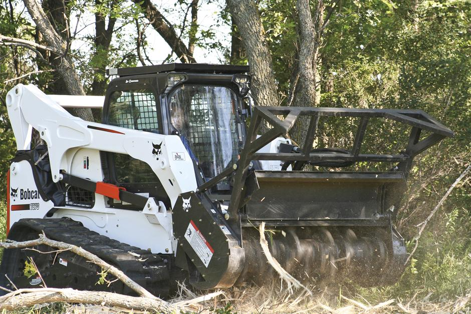 Tractor Forestry Package : Bobcat forestry cutter attachment for sale rent or lease